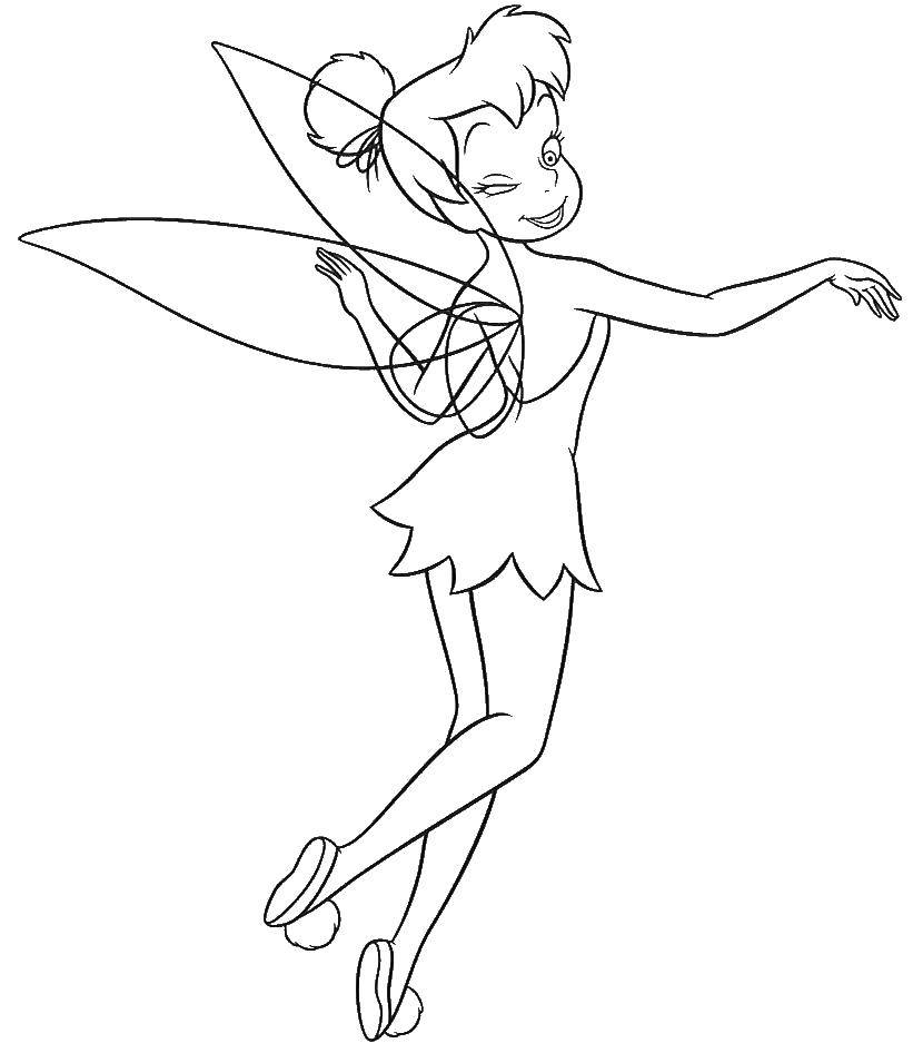 Coloring Tinker bell from disney fairies Download ,Fairy, tale,.  Print