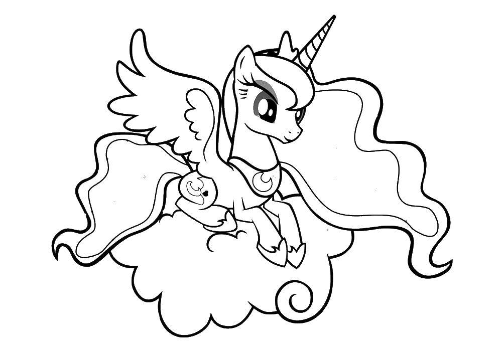 Coloring Princess Luna pony Download Princess Luna, pony,.  Print