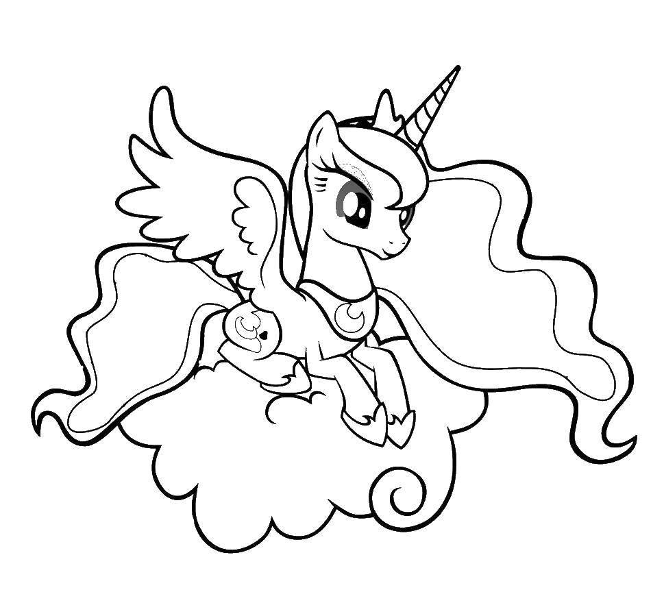 Раскраски сказочный, Раскраска Пони и их сказочный мир Пони.