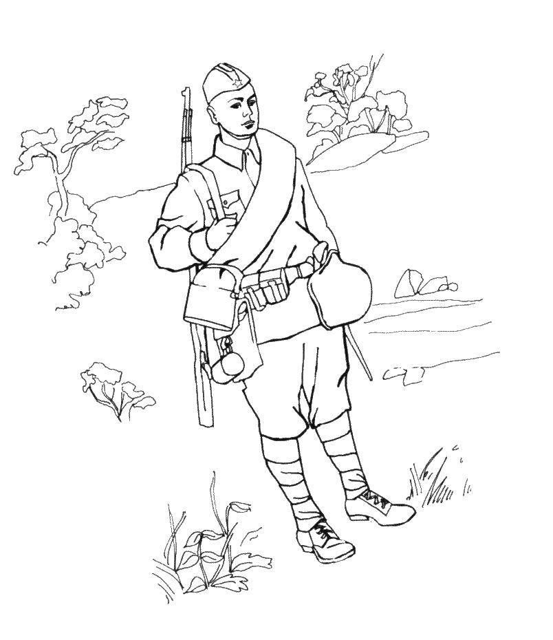Раскраска военное Скачать Персонаж из мультфильма.  Распечатать ,мультфильмы,