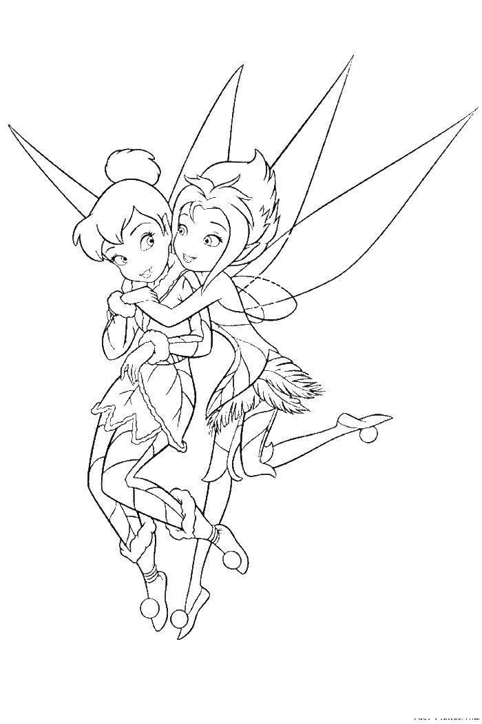 Coloring Tinker bell and forget-me-not Download fairy, Dindin, forget-me-not,.  Print