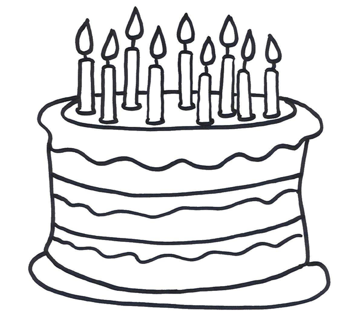 Coloring sheet cakes Download the congratulation 8 March card.  Print