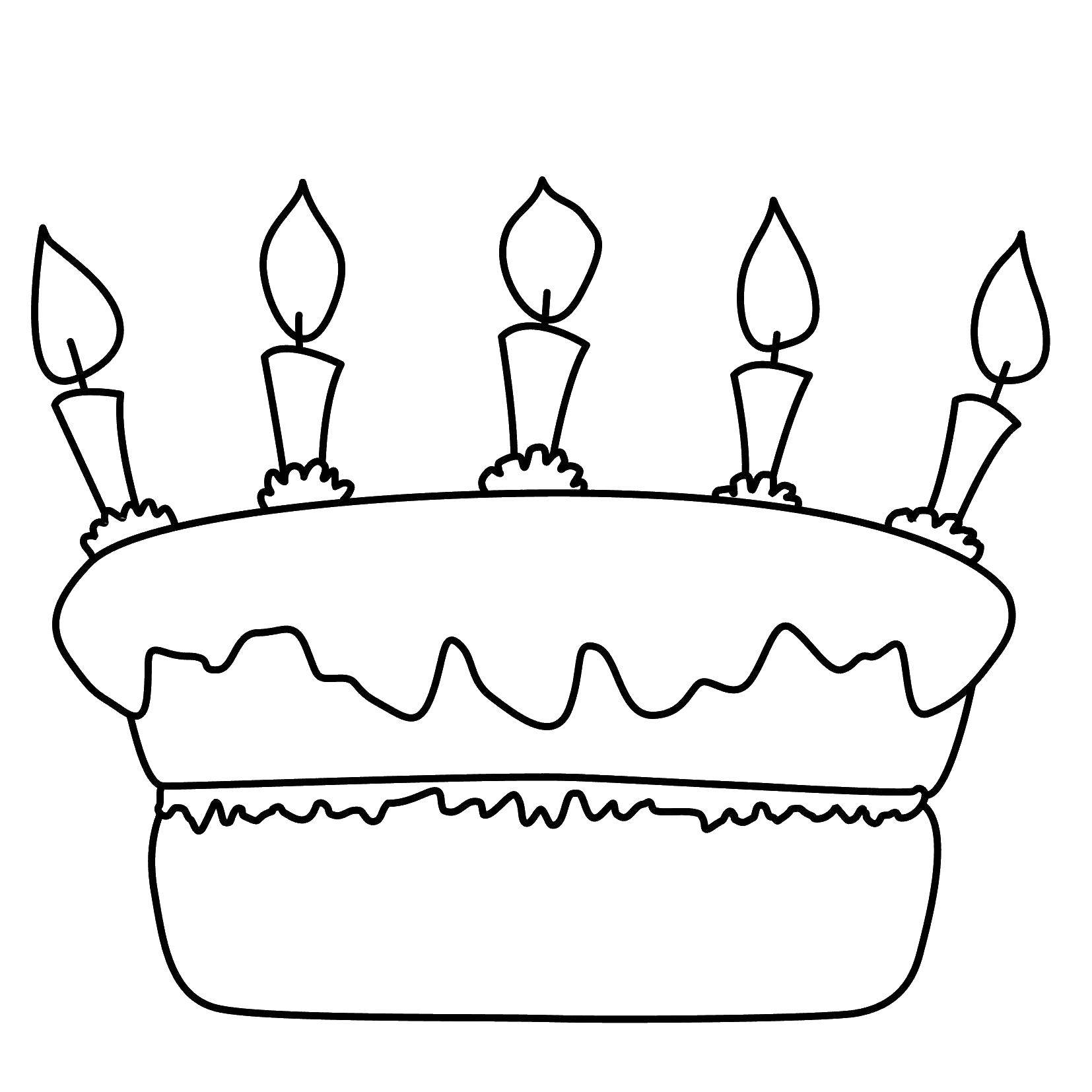 Coloring sheet cakes Download tree, new year.  Print ,new year,