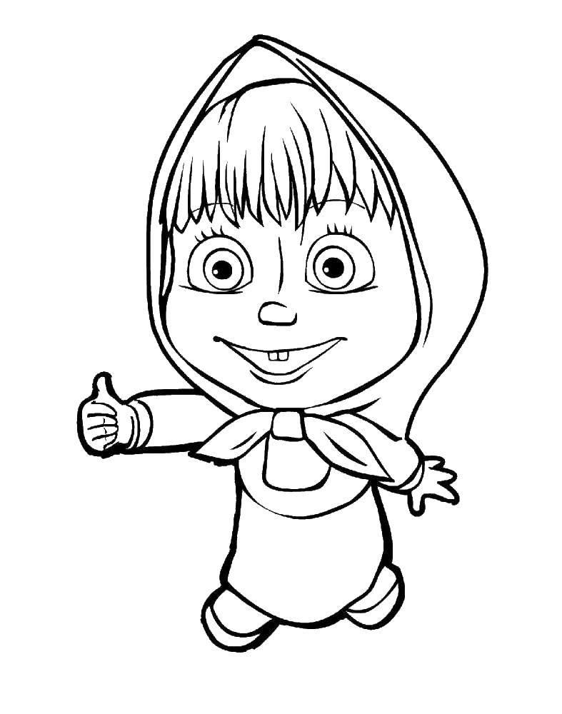 Coloring sheet Masha and the bear Download ,Cartoon character,.  Print