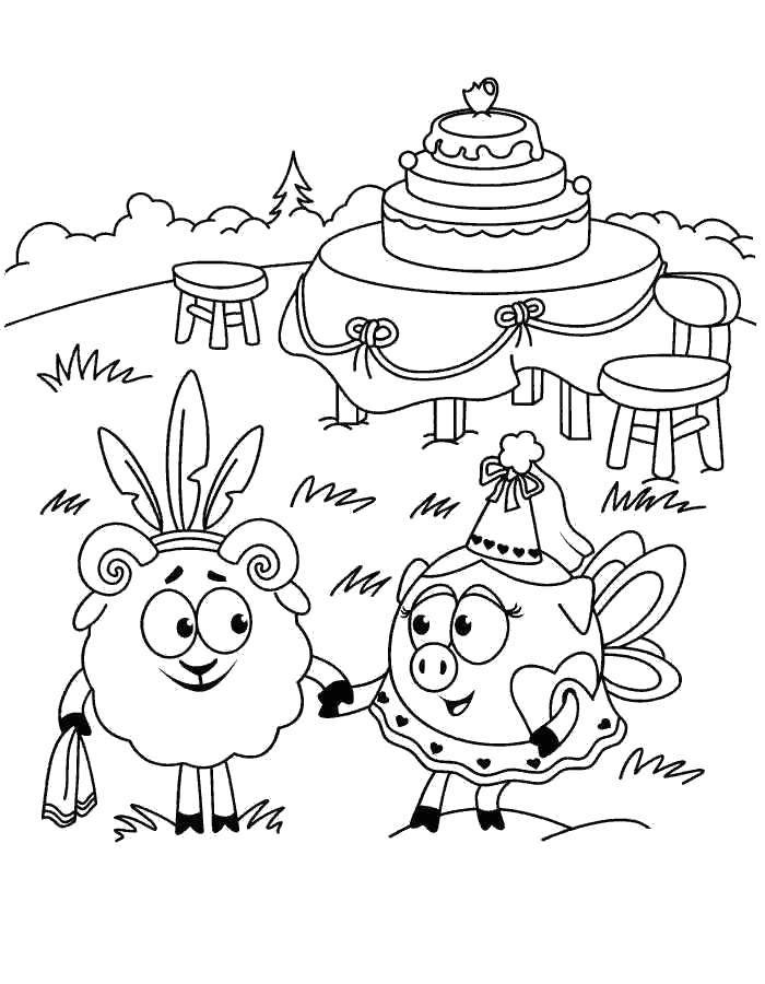 Coloring sheet Smesharik Download Celebrity.  Print ,coloring,