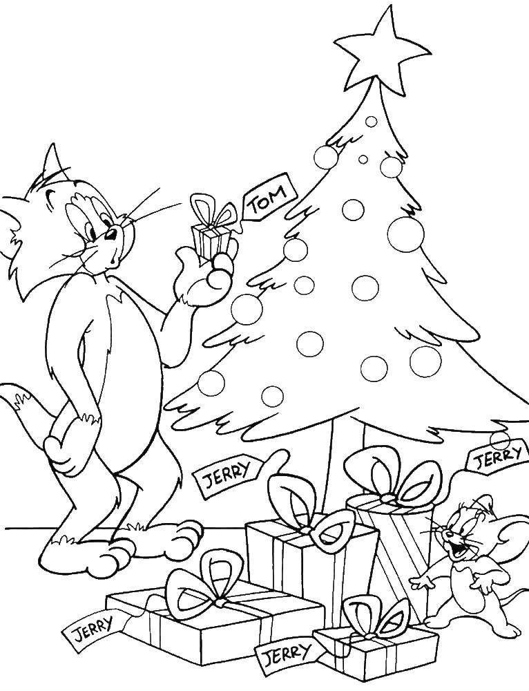 Coloring sheet Tom and Jerry Download .  Print