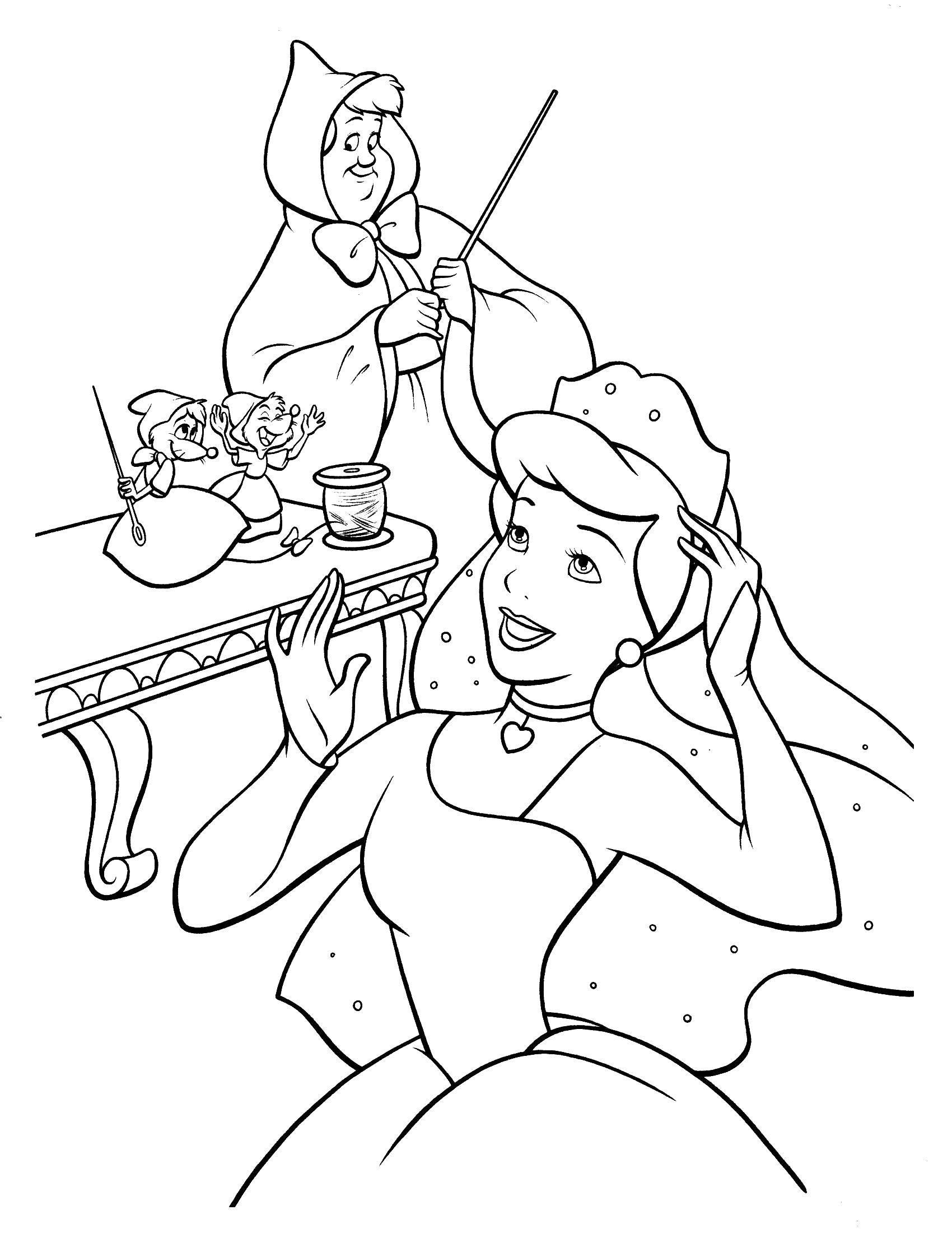 Coloring sheet Cinderella and the Prince Download fish, corals, algae.  Print ,fish,