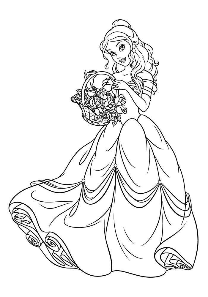 Coloring sheet beauty and the beast Download Cartoon character.  Print ,Disney cartoons,