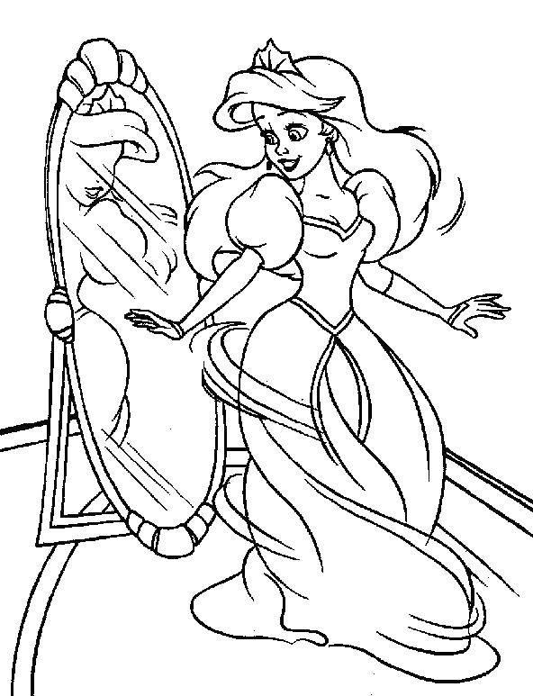 Раскраски хвостом, Раскраска Русалка с красивым хвостом ...