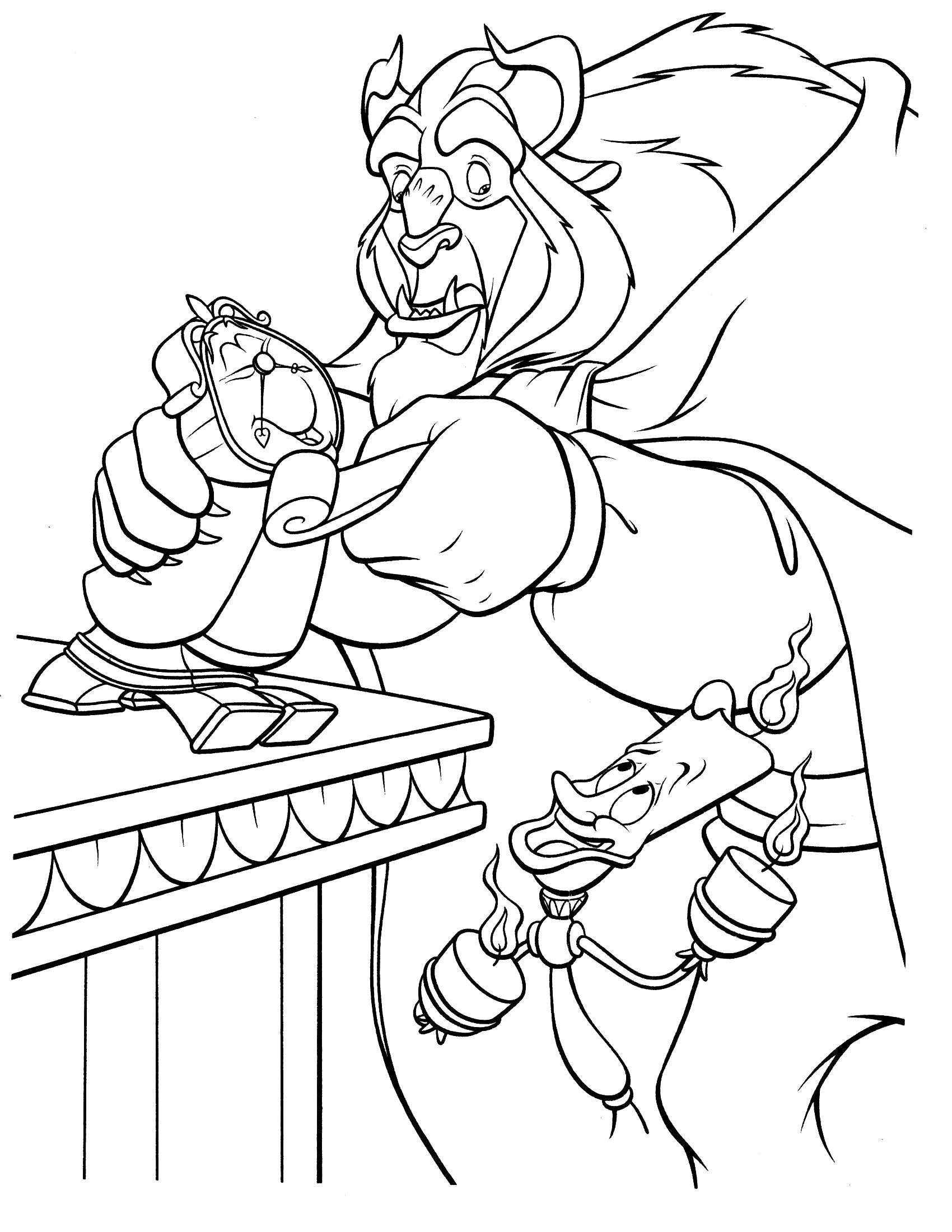 Top Beauty And The Beast Colouring Pages Disney Beauty And The ... | 2200x1700