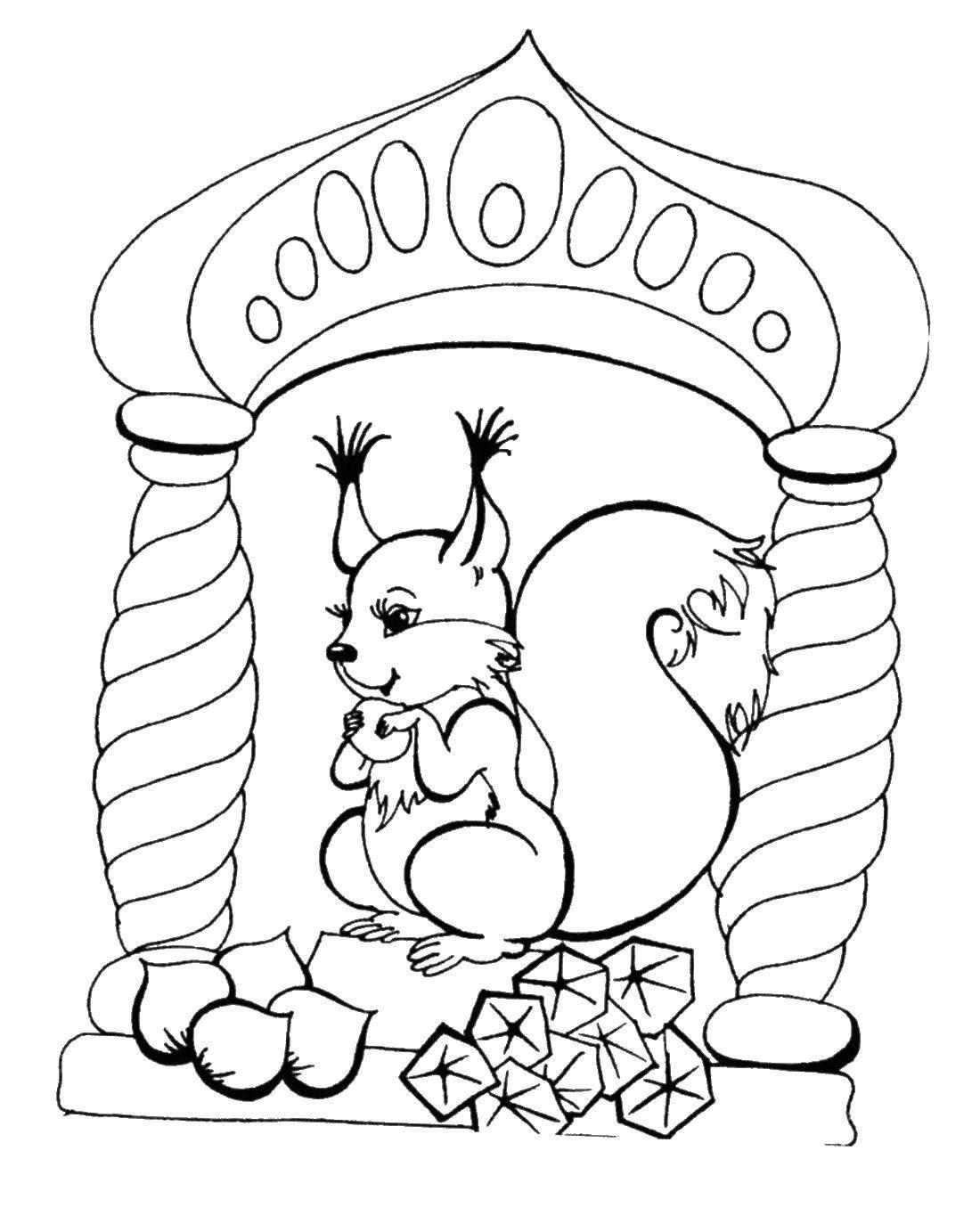 рисунки из сказки о царе салтане про белку рисуем сами
