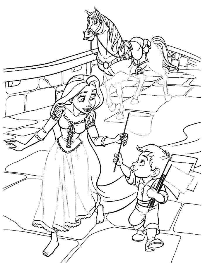 Coloring sheet coloring pages Rapunzel tangled Download .  Print