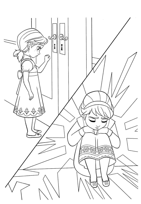 Раскраски анна, Раскраска Анна и олень свен раскраски ...