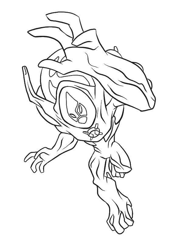 Coloring Monster cartoon Ben ten Download Cartoon character, Ben Ten.  Print ,Ben ten,