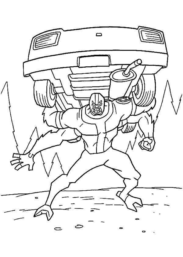 Coloring Cartoon character Ben ten Download Cartoon character, Ben Ten.  Print ,for boys ,