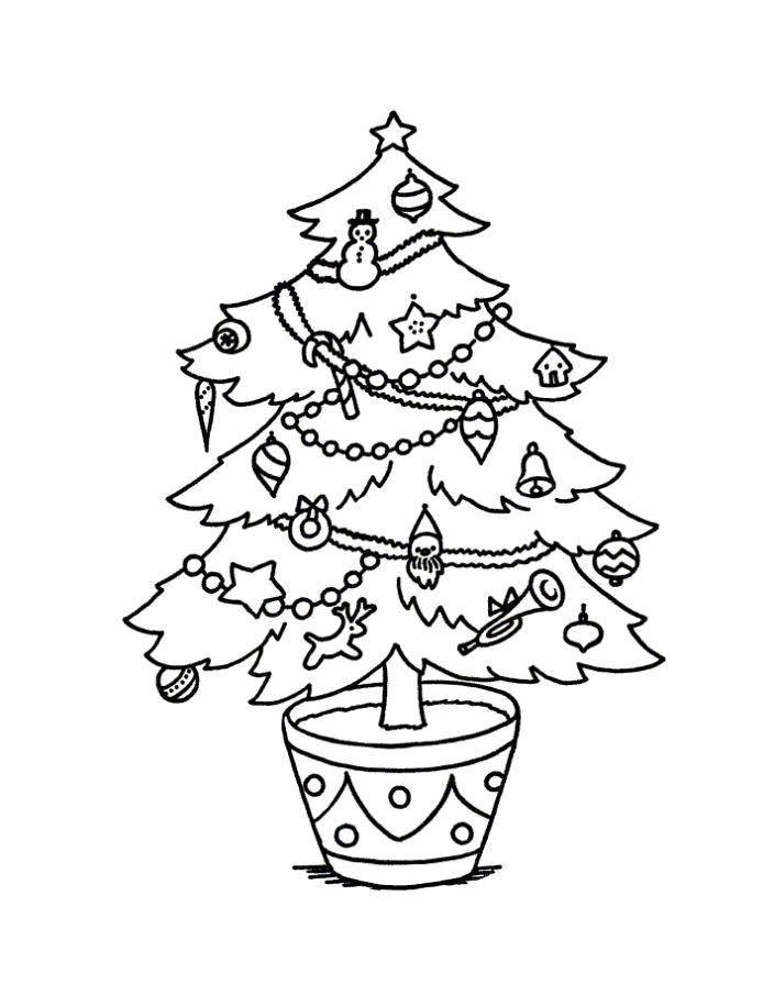 хвост, новогодняя елочка раскраска домах первого