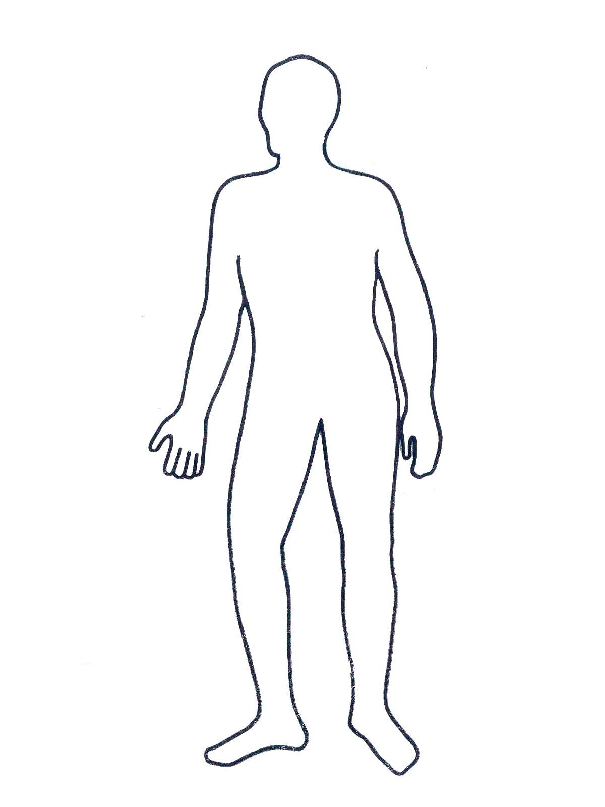 раскраска силуэт человека в полный рост железа самая большая