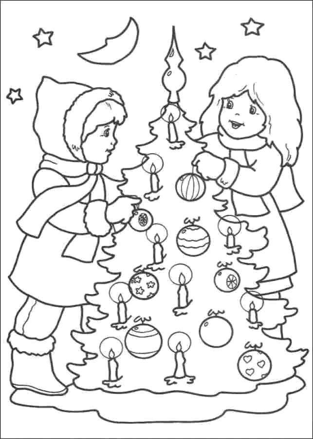 Раскраска Рождество Скачать санта клаус,ельф,подарки.  Распечатать