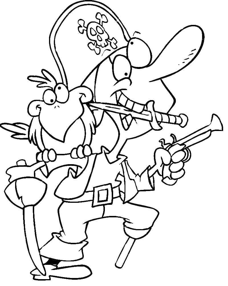 Coloring Stupid pirate Download Pirate, saber,.  Print