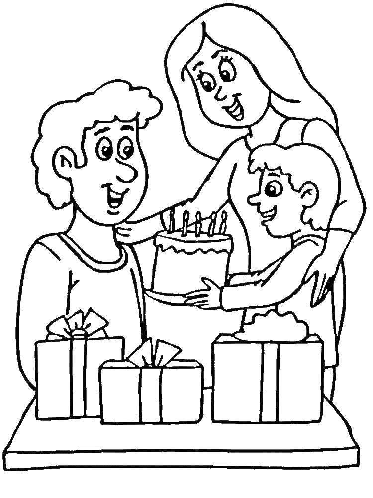 Coloring sheet Family Download .  Print