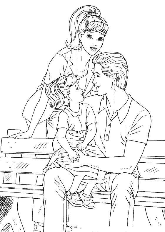Coloring Dad,mom,daughter Download dad ,mom,daughter,.  Print
