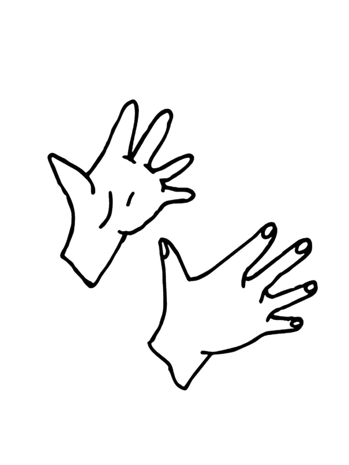 Картинки рук раскраска