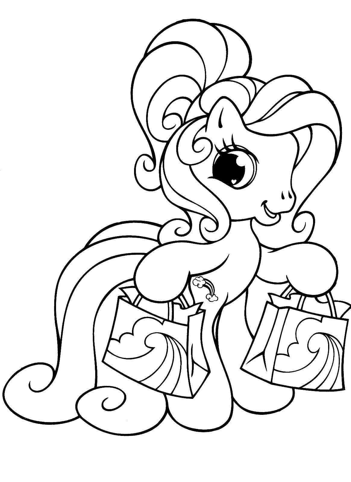 Раскраски веселятся, Раскраска Поняшки веселятся Пони.