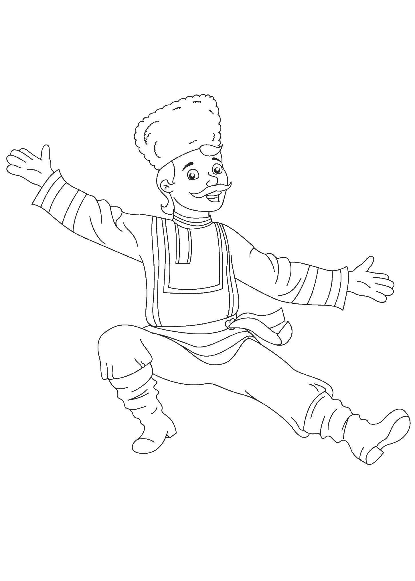 Online Coloring Pages Coloring Page Folk Dancer Russia Coloring Pages For Kids