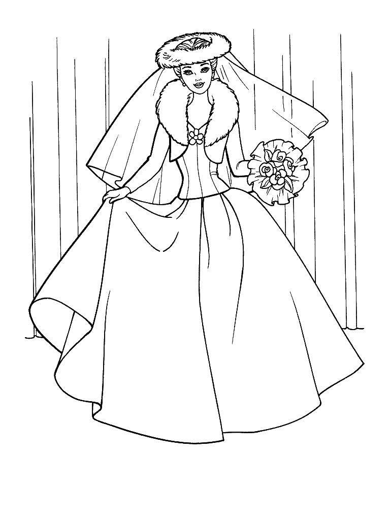 Coloring sheet wedding dresses Download .  Print