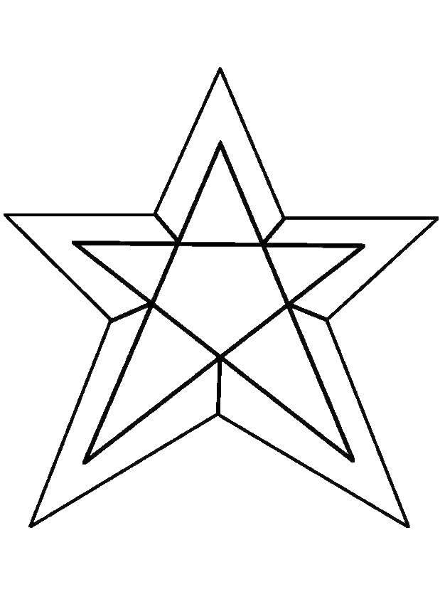 Раскраски Звездочка, Раскраска Веслая Звездочка Звездочки-5566