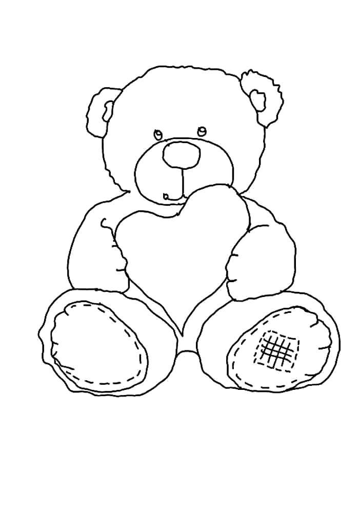 Teddy Bear Cartoon - Coloring Home   1000x700