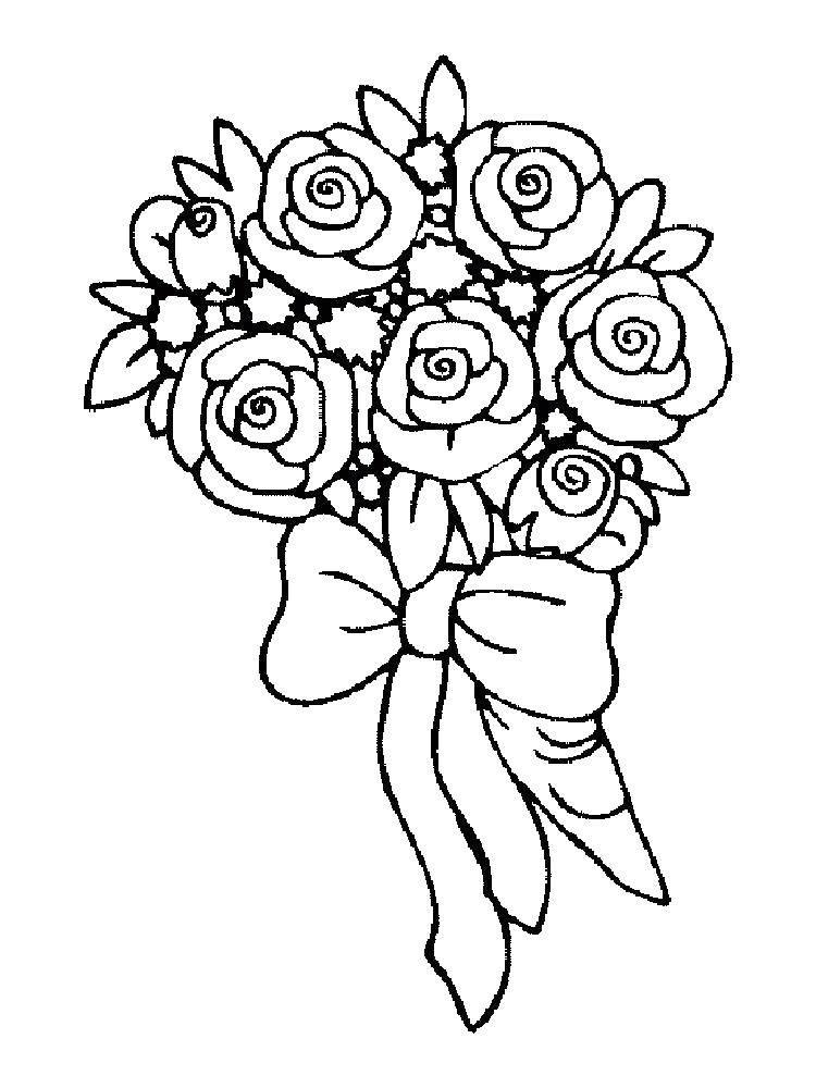 Картинки как нарисовать букет роз
