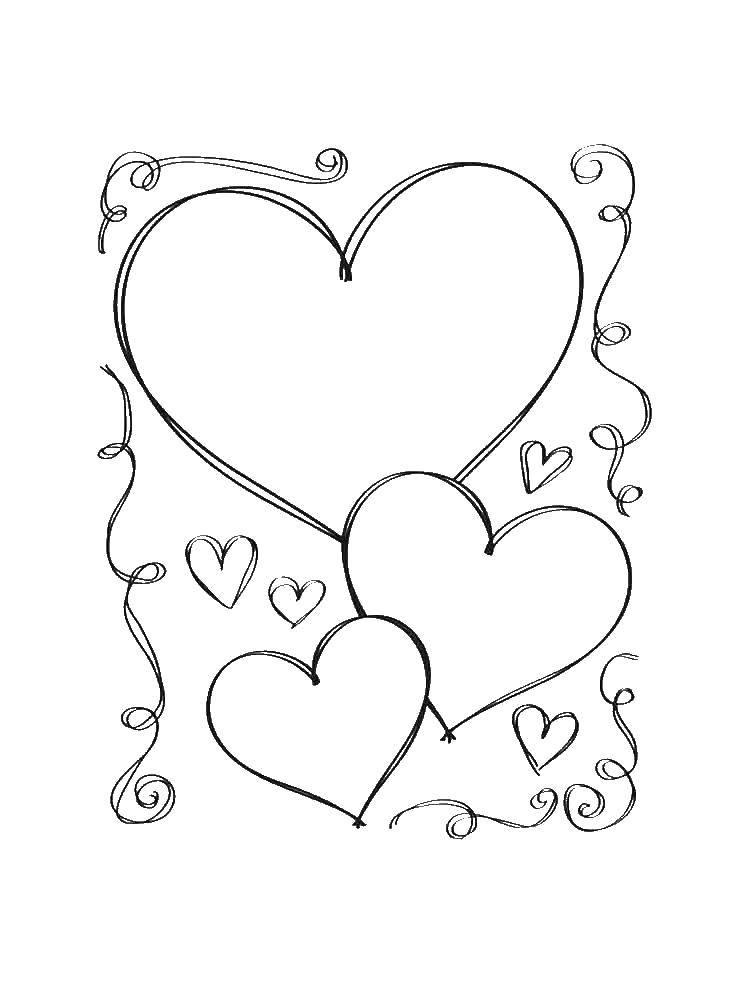 пак раскраска большое сердце распечатать загрузки