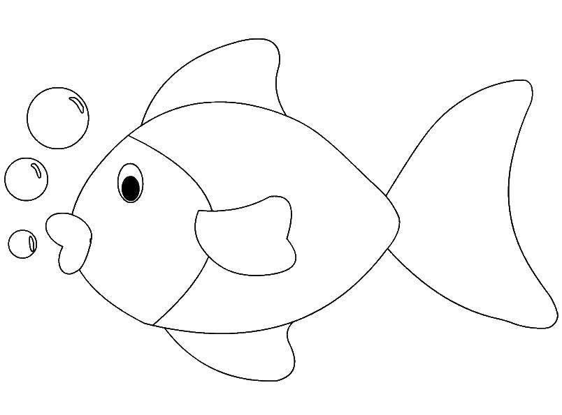 Раскраска рыбы Скачать ,Подводный мир, рыба,.  Распечатать