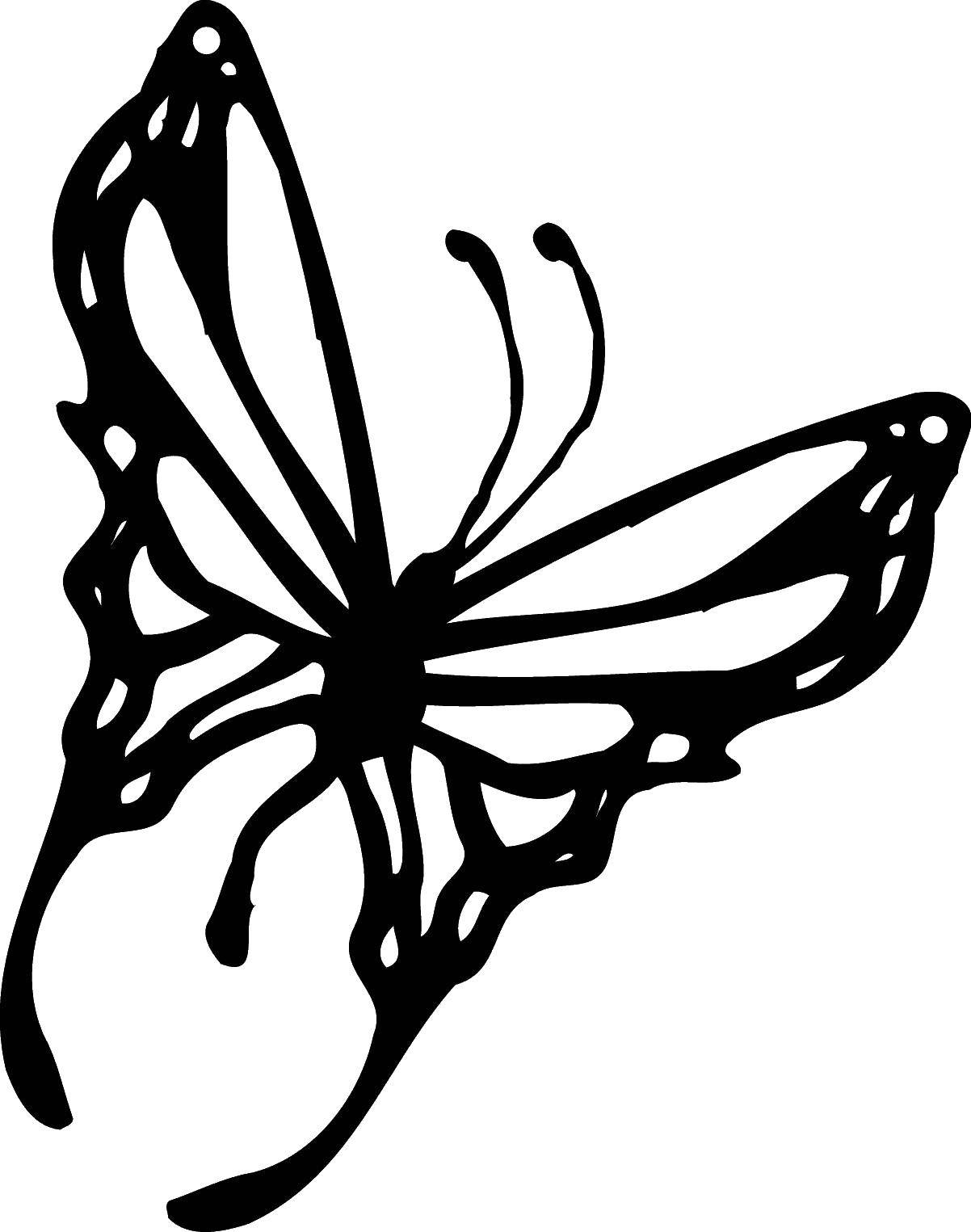 Coloring sheet the contours for cutting out butterflies Download rockets, spaceships, space.  Print ,rockets,