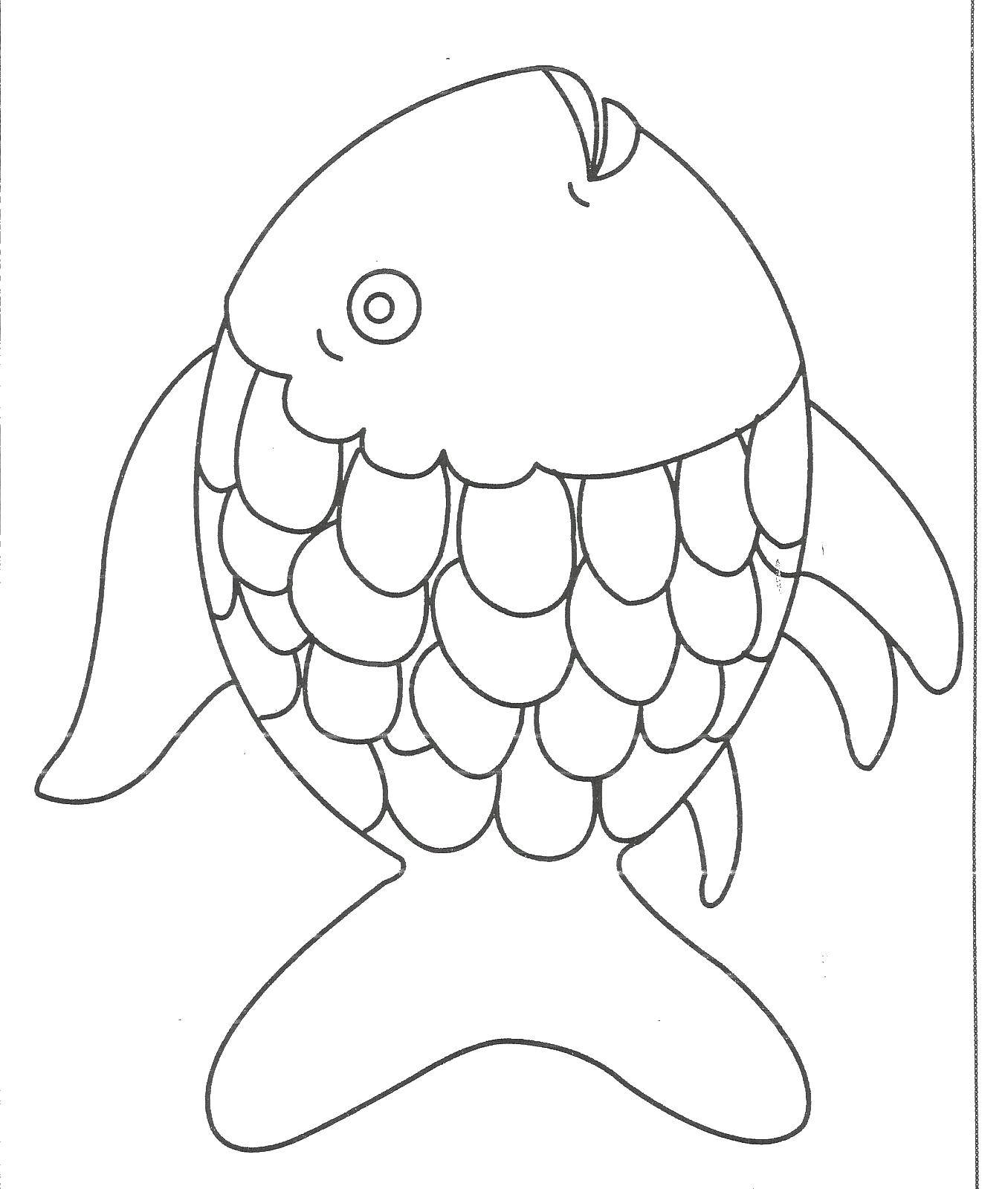 Kissing Fish Coloring Pages For Kids - Download & Print Online ... | 1600x1356