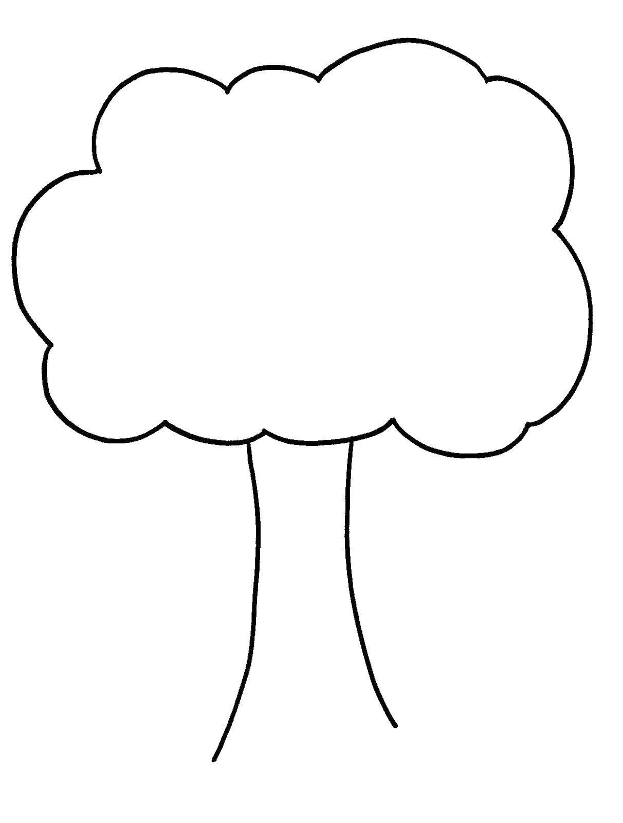 Раскраски Раскраска Высохщие деревья Контур дерева ...
