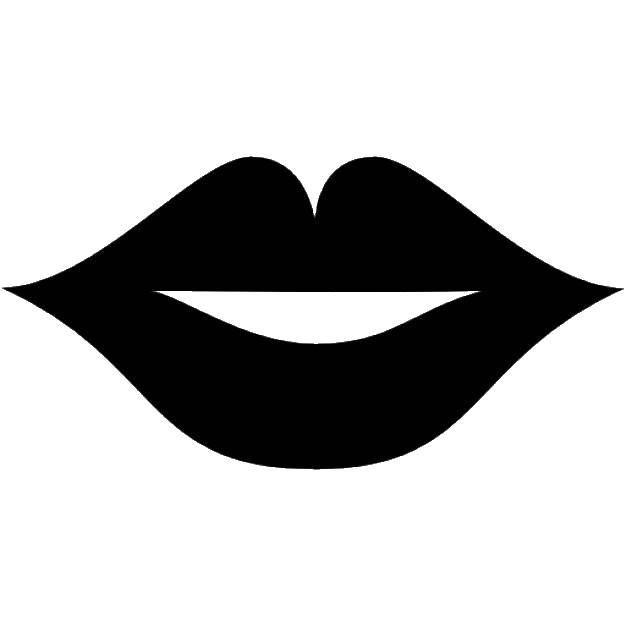 Картинки губы контур