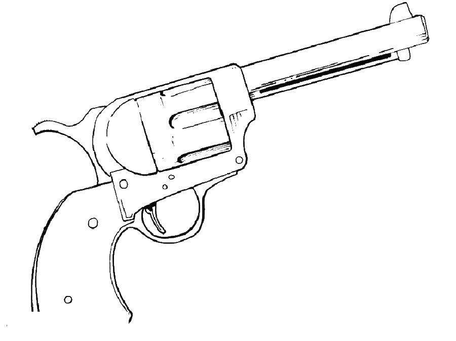 Раскраски ружье, Раскраска Ружье оружие.