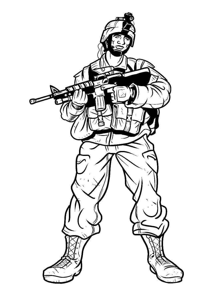 Раскраски пистолет, Раскраска Водный пистолет оружие.