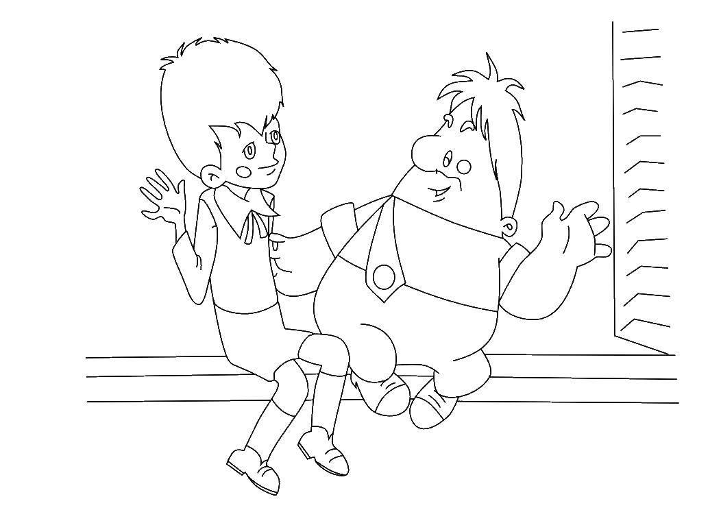 рисунок карлсона и малыша