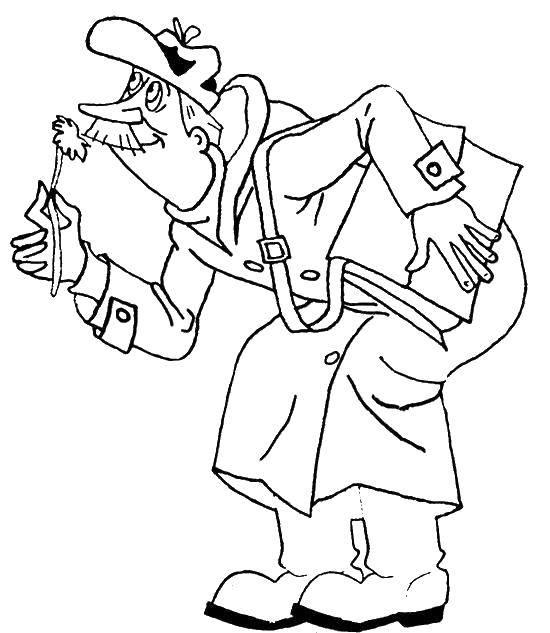Раскраски Раскраска Кот матроскин пес шарик с теленком ...