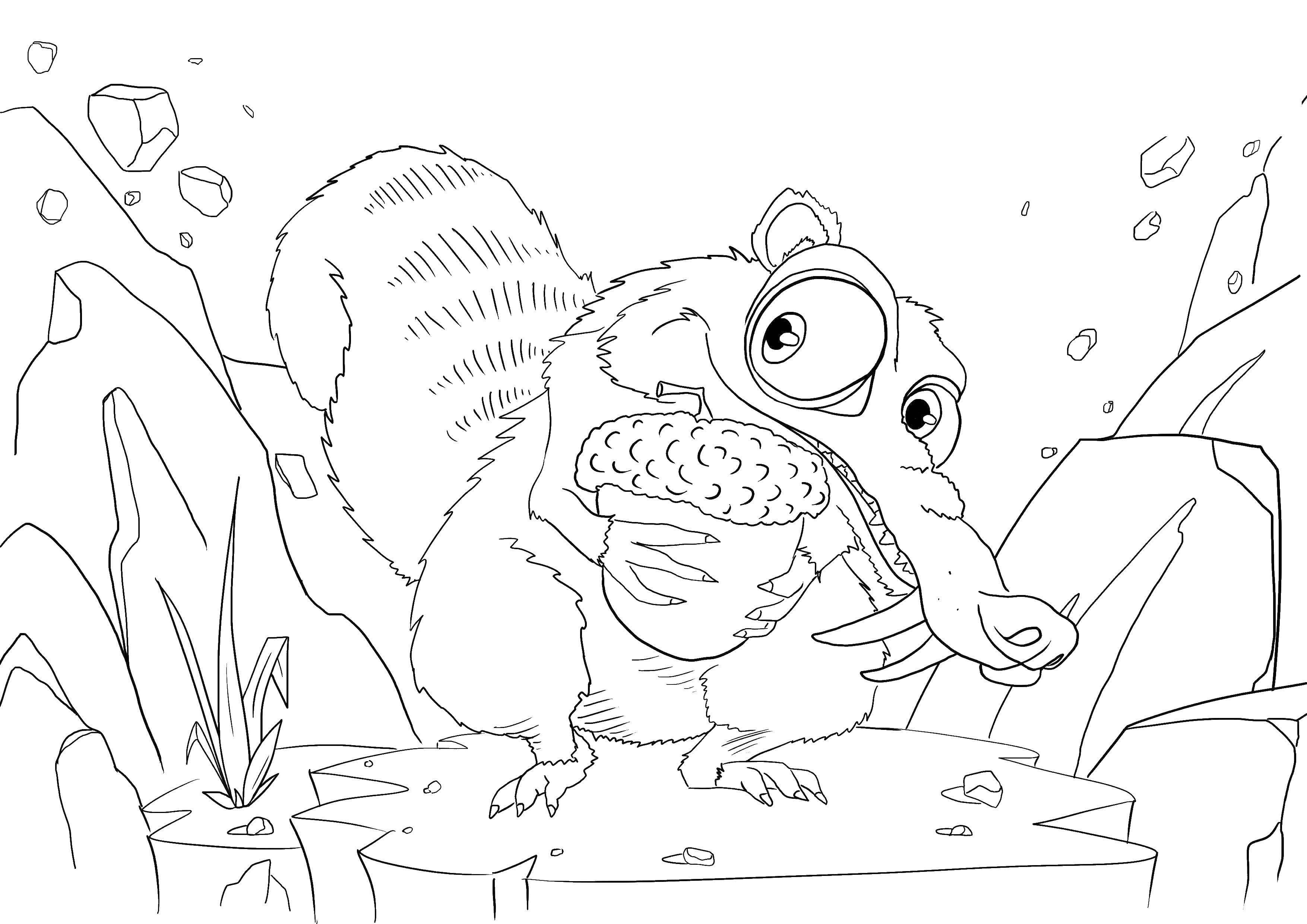 Coloring sheet ice age Download Trees, leaf.  Print ,tree,