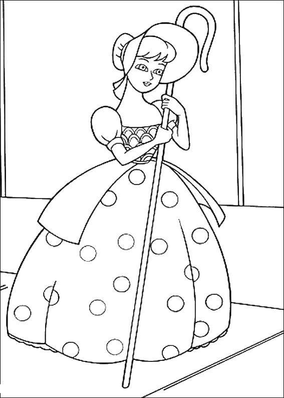 Online Coloring Pages Coloring Page Bo Peep Toy Story Download Print Coloring Page