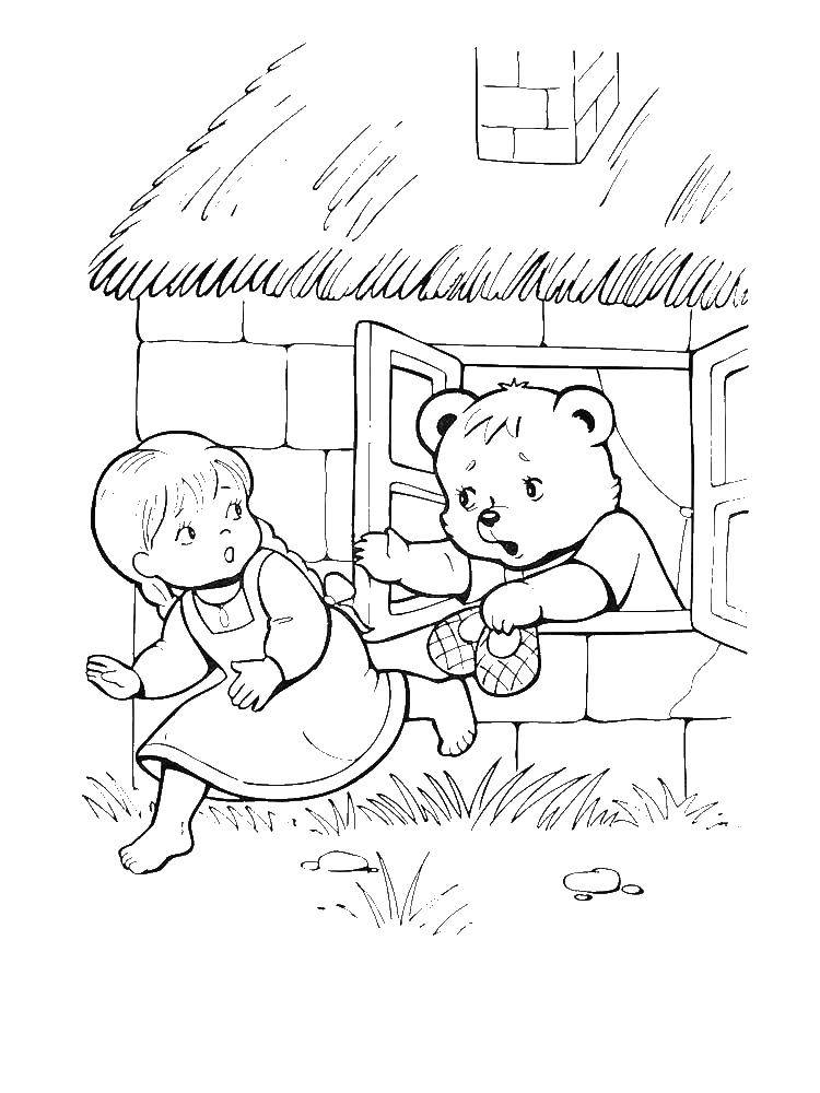 Coloring sheet the three bears Download Barbie .  Print ,Barbie ,