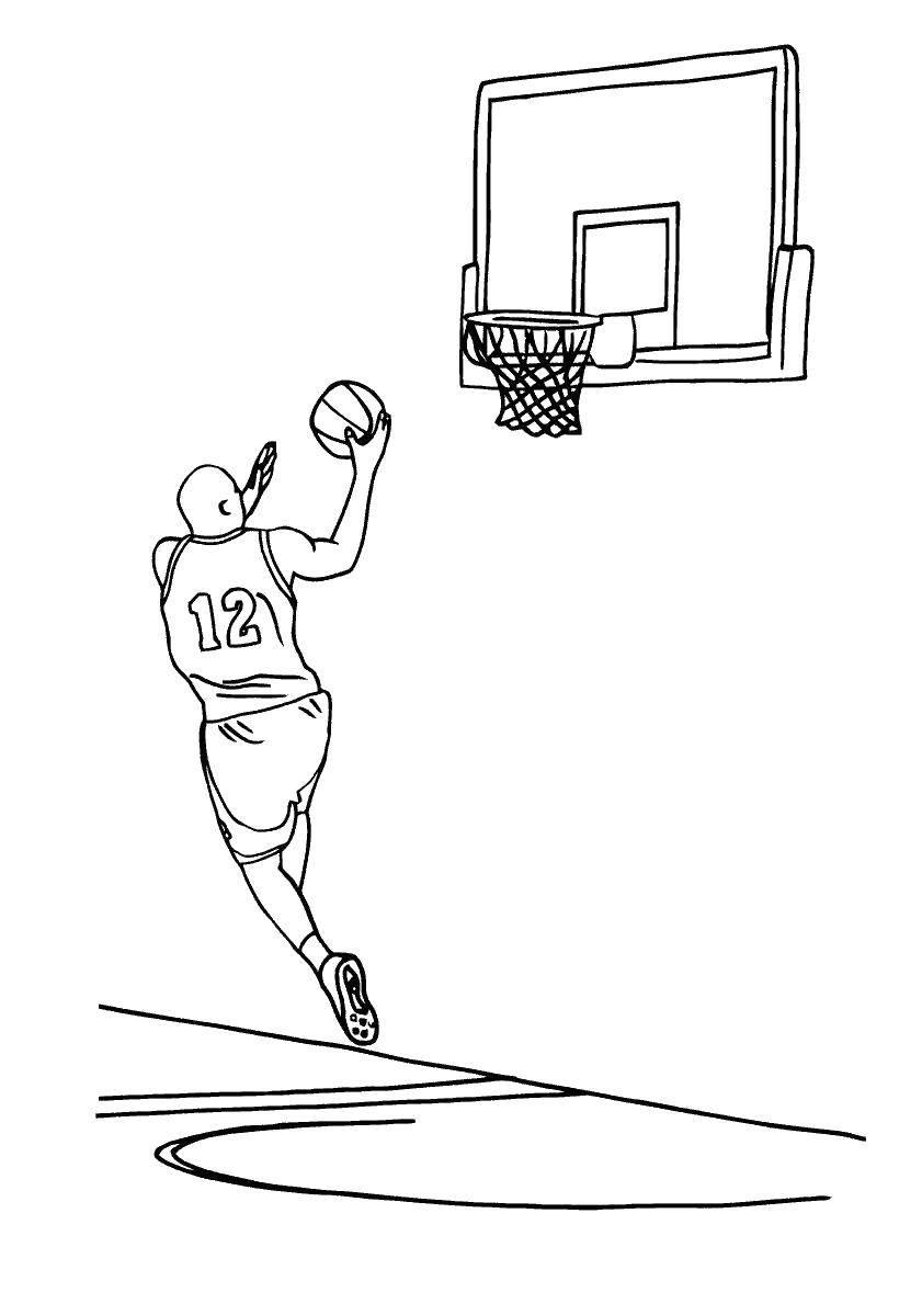 Название: Раскраска Баскетболист. Категория: спорт. Теги: баскетбол.