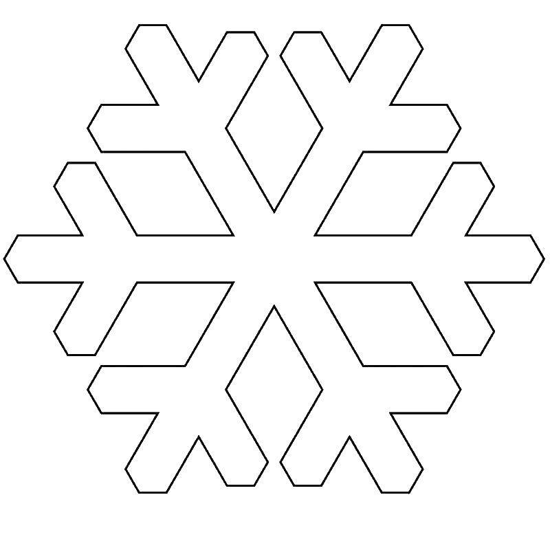 картинки детям снежинки трафарет этих машин остается