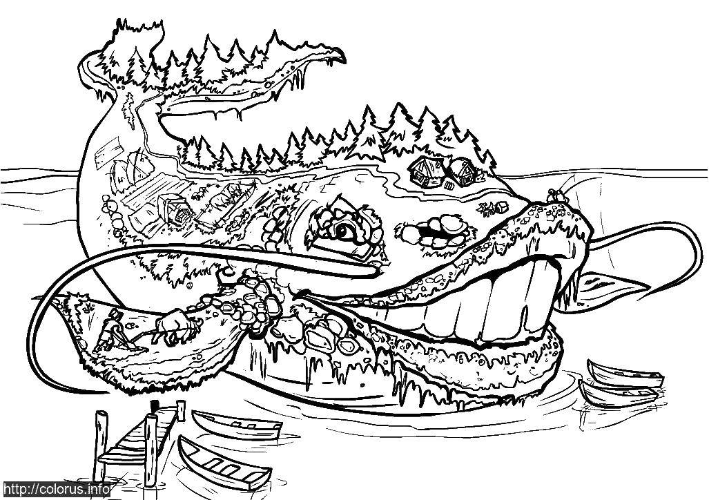 Coloring sheet Tales Download dragon, flowers.  Print ,coloring antistress,