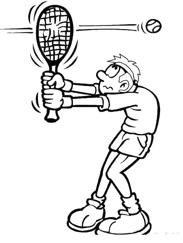 Coloring Pages | Little Girl Playing Tennis Coloring Page | 853x640