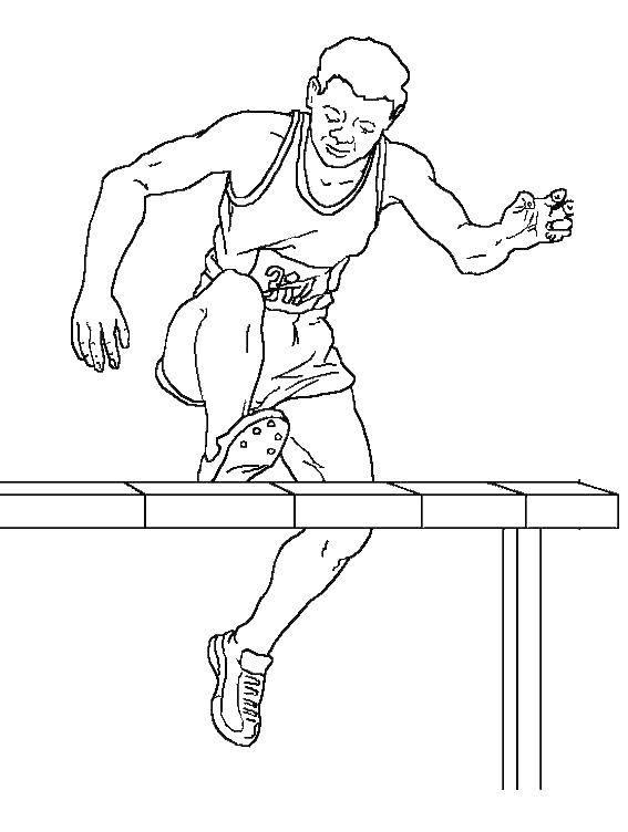 Легкая атлетика картинки для детей раскраски